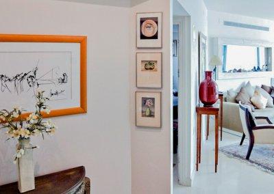עיצוב בסגנון קלאסי לדירת נופש על חוף הים של תל אביב