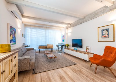 דירת שלושה חדרים בתל אביב, סגנון עיצוב אקלקטי