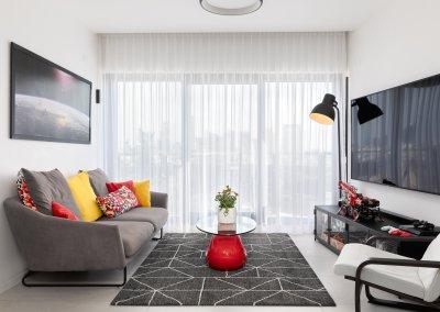 עיצוב דירה במגדל יוקרה בדיזנגוף סנטר
